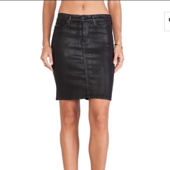 a82e11fd1 Hudson Jeans Dresses & Skirts - Hudson Jeans Mattie Pencil Skirt black wax,  ...